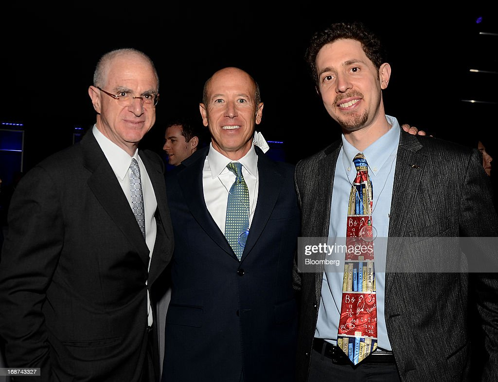 Tom Tisch, chancellor of Brown University, from left, Barry Sternlicht, chief executive officer of Starwood Capital Group LLC, and Dave Levin, co-founder of Knowledge is Power Program, attend the Robin Hood Foundation Gala in New York, U.S., on Monday, May 13, 2013. The annual event raises money for the Robin Hood Foundation, which funds and partners with programs to alleviate poverty in the lives of New Yorkers. Photographer: Amanda Gordon/Bloomberg via Getty Images