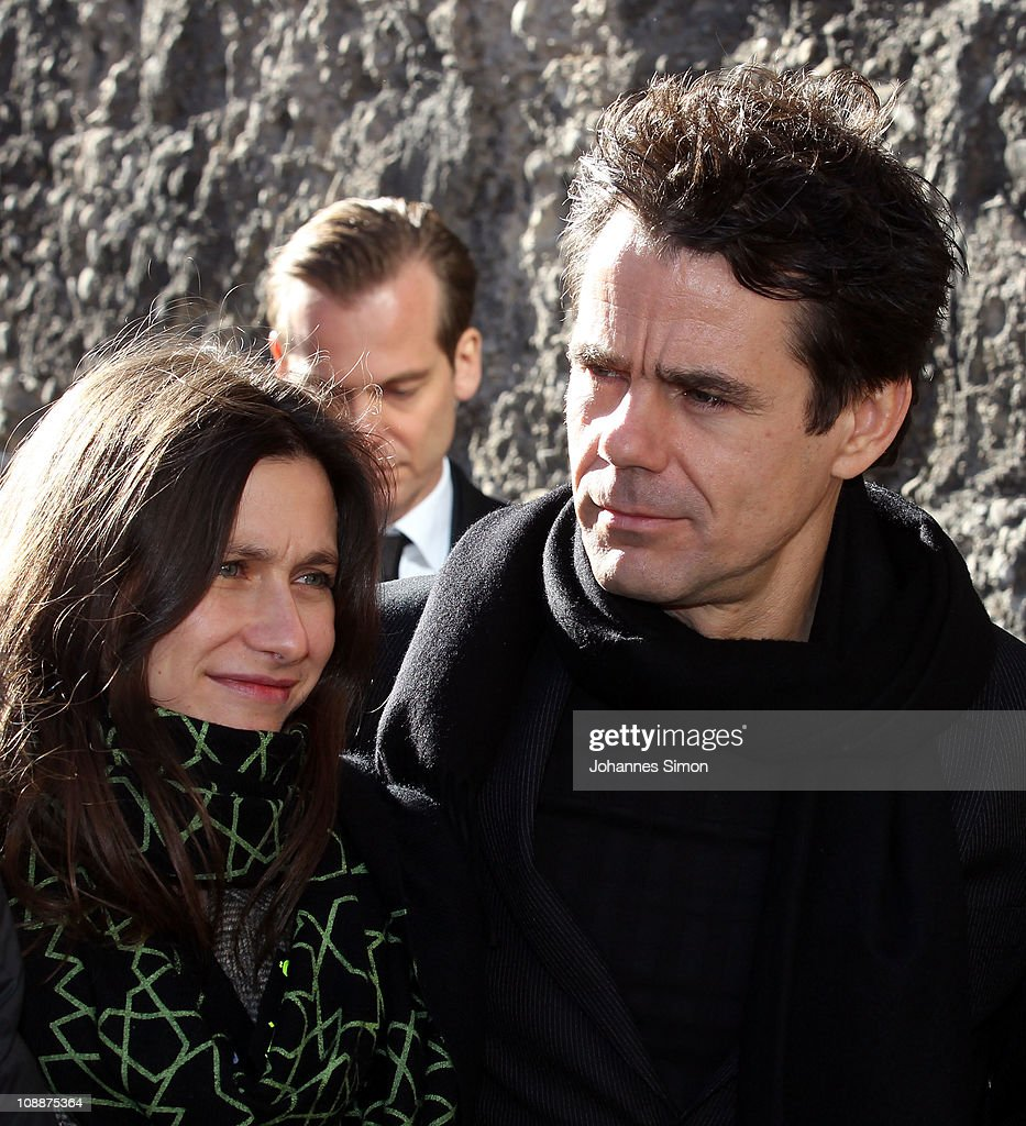 Tom Tykwer and his wife Marie Steinmann attend the memorial service for Bernd Eichinger at the St Michael Kirche on February 07 2011 in Munich...