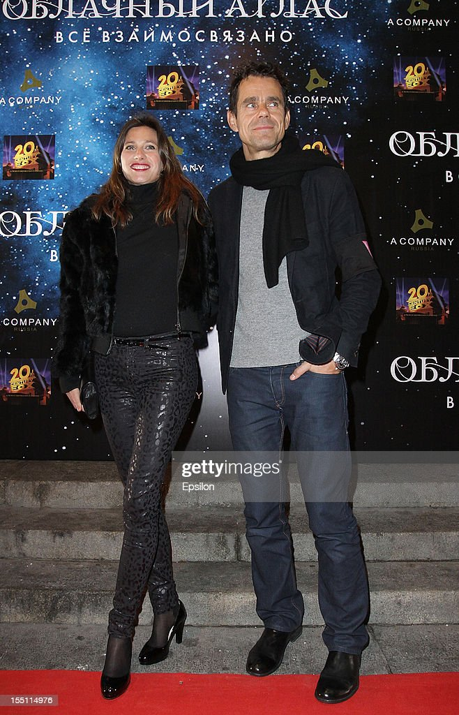 Tom Tykwer and wife arrive at the premiere of Warner Bros. Pictures' 'Cloud Atlas' in Oktyabr cinema hall on November 1, 2012 in Moscow, Russia.