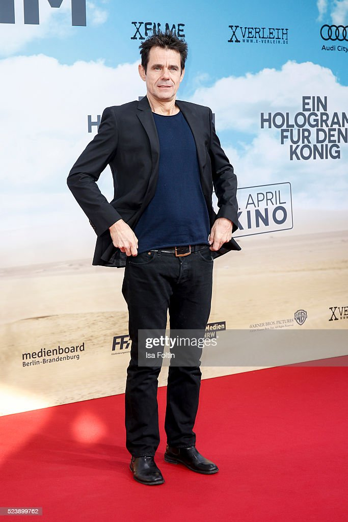 Tom Tykwer attend the German premiere for the film 'A Hologram for the King' at Zoopalast on April 24 2016 in Berlin Germany