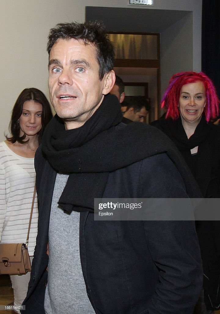 <a gi-track='captionPersonalityLinkClicked' href=/galleries/search?phrase=Tom+Tykwer&family=editorial&specificpeople=768623 ng-click='$event.stopPropagation()'>Tom Tykwer</a> attends the press conference of the Moscow premiere of 'Cloud Atlas' on November 1, 2012 in Moscow, Russia.