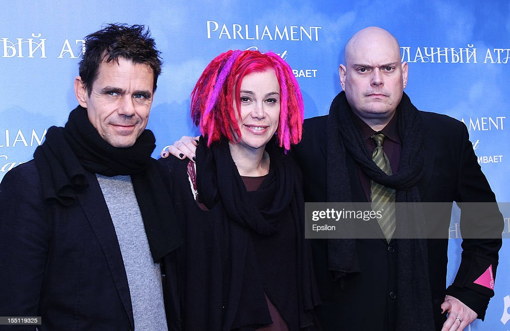 <a gi-track='captionPersonalityLinkClicked' href=/galleries/search?phrase=Tom+Tykwer&family=editorial&specificpeople=768623 ng-click='$event.stopPropagation()'>Tom Tykwer</a>, <a gi-track='captionPersonalityLinkClicked' href=/galleries/search?phrase=Lana+Wachowski&family=editorial&specificpeople=1704839 ng-click='$event.stopPropagation()'>Lana Wachowski</a> and <a gi-track='captionPersonalityLinkClicked' href=/galleries/search?phrase=Andy+Wachowski&family=editorial&specificpeople=3209660 ng-click='$event.stopPropagation()'>Andy Wachowski</a> arrive at the premiere of Warner Bros. Pictures' 'Cloud Atlas' in Oktyabr cinema hall on November 1, 2012 in Moscow, Russia.