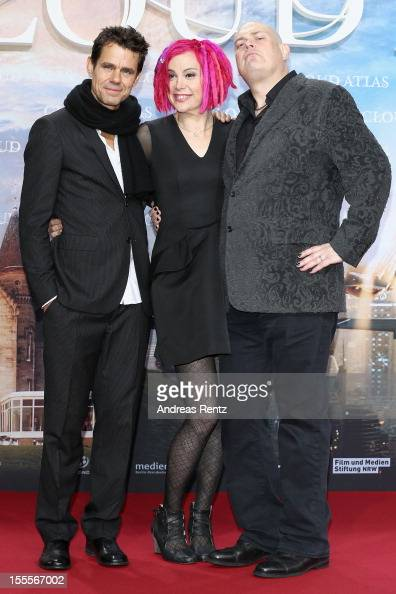 Tom Tykwer Lana Wachowski and Andy Wachowski attend the 'Cloud Atlas' Germany Premiere at CineStar on November 5 2012 in Berlin Germany
