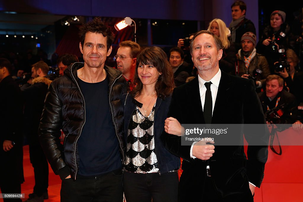 <a gi-track='captionPersonalityLinkClicked' href=/galleries/search?phrase=Tom+Tykwer&family=editorial&specificpeople=768623 ng-click='$event.stopPropagation()'>Tom Tykwer</a>, Marie Steinmann and Benno Fuermann attend the 'Hail, Caesar!' premiere during the 66th Berlinale International Film Festival Berlin at Berlinale Palace on February 11, 2016 in Berlin, Germany.
