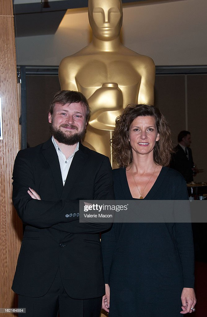 Tom Van Avermaet and Ellen De Waele attends The Academy Of Motion Picture Arts And Sciences Presents Oscar Celebrates: Shorts at AMPAS Samuel Goldwyn Theater on February 19, 2013 in Beverly Hills, California.