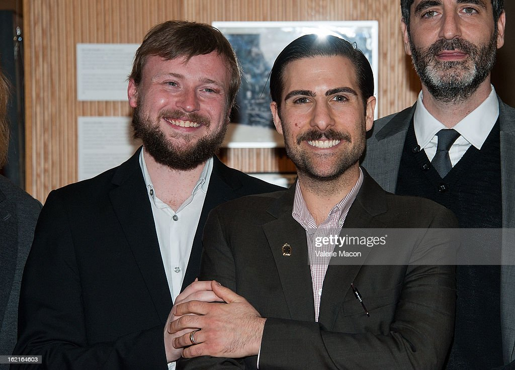 Tom Van Avermaet and Jason Schwartzman attend The Academy Of Motion Picture Arts And Sciences Presents Oscar Celebrates: Shorts at AMPAS Samuel Goldwyn Theater on February 19, 2013 in Beverly Hills, California.