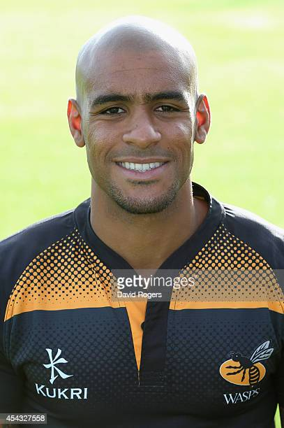 Tom Varndell of Wasps poses for a portrait at the photocall held at Twyword Avenue on August 29 2014 in Acton England