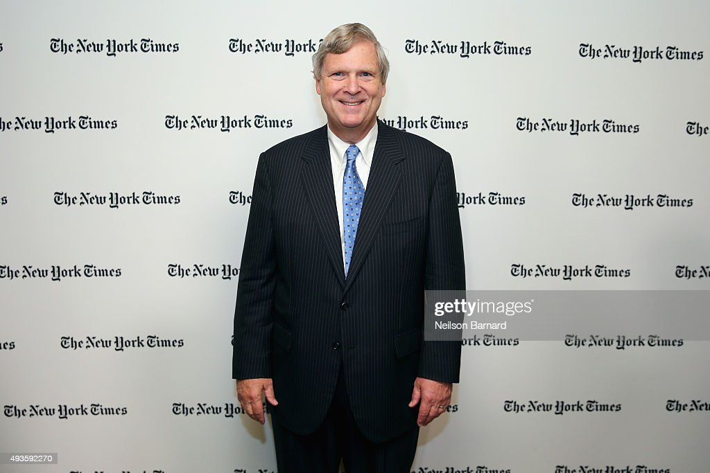 <a gi-track='captionPersonalityLinkClicked' href=/galleries/search?phrase=Tom+Vilsack&family=editorial&specificpeople=681029 ng-click='$event.stopPropagation()'>Tom Vilsack</a>, U.S. Secretary of Agriculture attends The New York Times Food For Tomorrow Conference 2015 at Stone Barns Center for Food & Agriculture on October 21, 2015 in Pocantico Hills City.