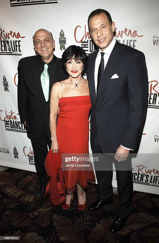 Tom Viola, Chita Rivera and Peter Lichtenthal during 'Chita Rivera: The Dancer's Life' Broadway Opening Night - After Party at The Copacabana in New York City, New York, United States.