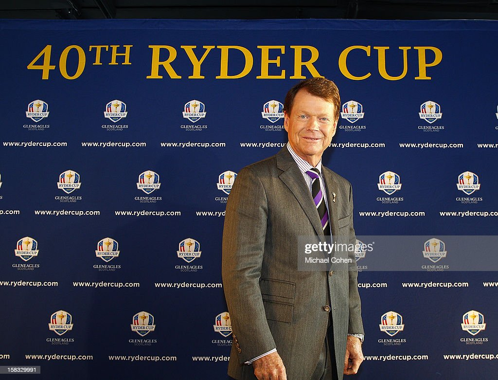 Tom Watson after the 2014 U.S. Ryder Cup Captain's News Conference held at the Empire State Building on December 13, 2012 in New York City.
