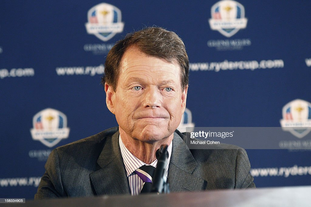 Tom Watson looks on during the 2014 U.S. Ryder Cup Captain's News Conference held at the Empire State Building on December 13, 2012 in New York City.