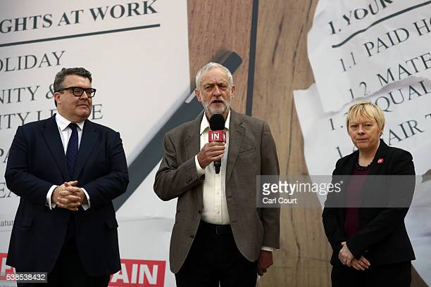 Tom Watson MP Deputy Leader of the Labour Party Labour leader Jeremy Corbyn and Angela Eagle MP Shadow First Secretary of State and Shadow Secretary...