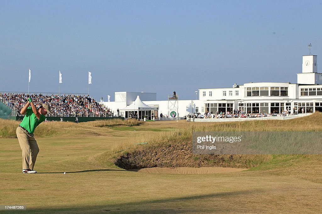 Tom Watson of the United States in action during the second round of The Senior Open Championship played at Royal Birkdale Golf Club on July 26, 2013 in Southport, United Kingdom.