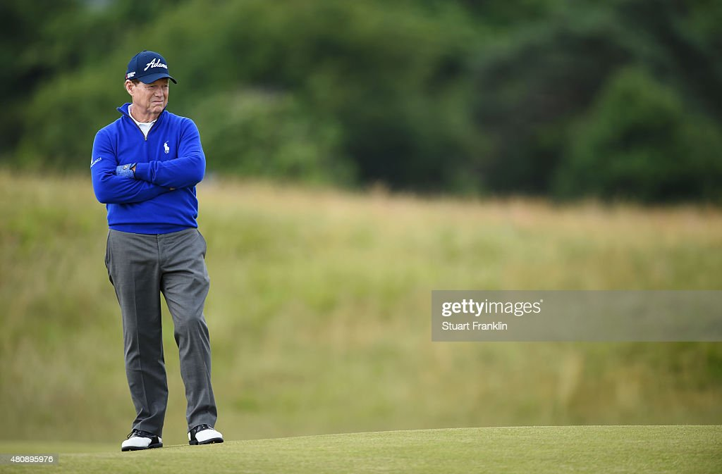 Tom Watson of the United States looks along the 5th fairway during the first round of the 144th Open Championship at The Old Course on July 16, 2015 in St Andrews, Scotland.