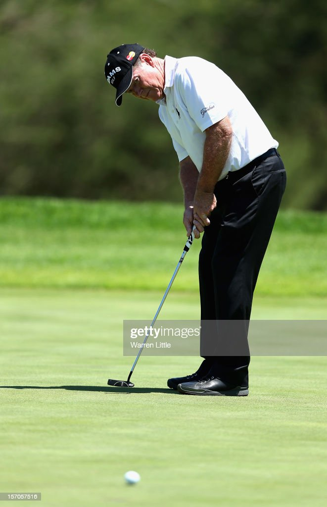 Tom Watson of the USA in action during the Pro-Am of the Nedbank Golf Challenge at the Gary Player Country Club on November 28, 2012 in Sun City, South Africa.