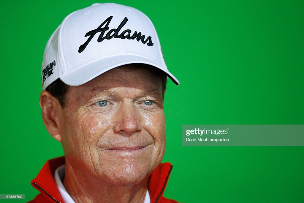 <a gi-track='captionPersonalityLinkClicked' href=/galleries/search?phrase=Tom+Watson+-+Golf&family=editorial&specificpeople=12597942 ng-click='$event.stopPropagation()'>Tom Watson</a> of the USA poses for the media prior to the KLM Open ProAm held at Kennemer G & CC on September 9, 2015 in Zandvoort, Netherlands.