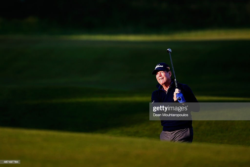 <a gi-track='captionPersonalityLinkClicked' href=/galleries/search?phrase=Tom+Watson+-+Golfer&family=editorial&specificpeople=12597942 ng-click='$event.stopPropagation()'>Tom Watson</a> of USA hits his second shot on the 10th hole during Day 1 of the KLM Open held at Kennemer G & CC on September 10, 2015 in Zandvoort, Netherlands.