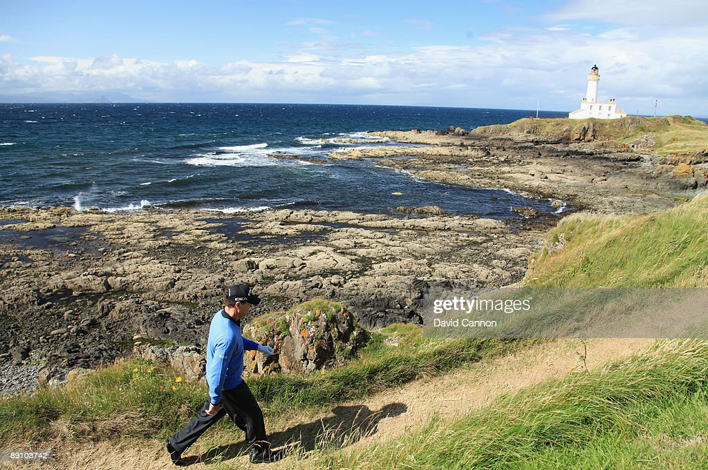 Tom Watson of USA walks up the 9th hole during the final round of the 138th Open Championship on the Ailsa Course Turnberry Golf Club on July 19 2009...