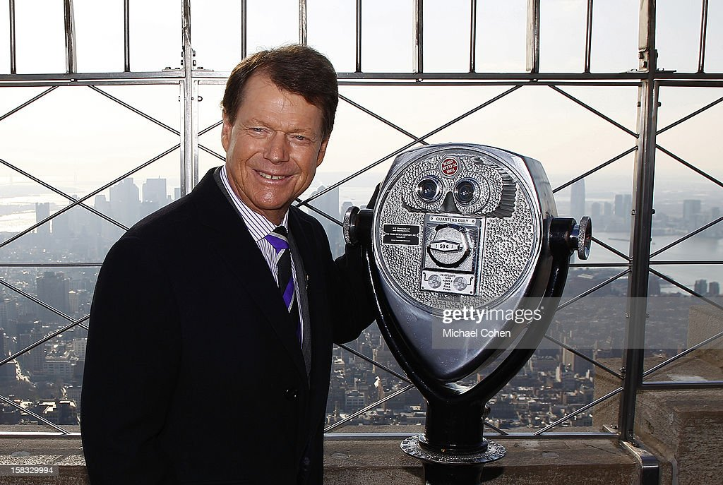 Tom Watson, the newly announced U.S. Ryder Cup Captain,stands on the 86th Floor Observatory after the 2014 U.S. Ryder Cup Captain's News Conference held at the Empire State Building on December 13, 2012 in New York City.