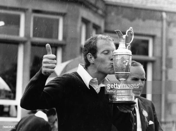 Tom Weiskopf American golfer who acquired the nickname 'Towering Inferno' because of his height and his fits of anger kissing the British Open...