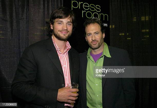 Tom Welling and Scott Patterson during WB Primetime 20042005 Upfront at Madison Square Garden in New York City New York United States