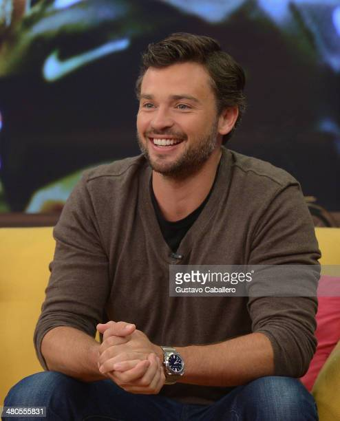 Tom Welling is on the set of Despierta America at Univision Headquarters on March 25 2014 in Miami Florida