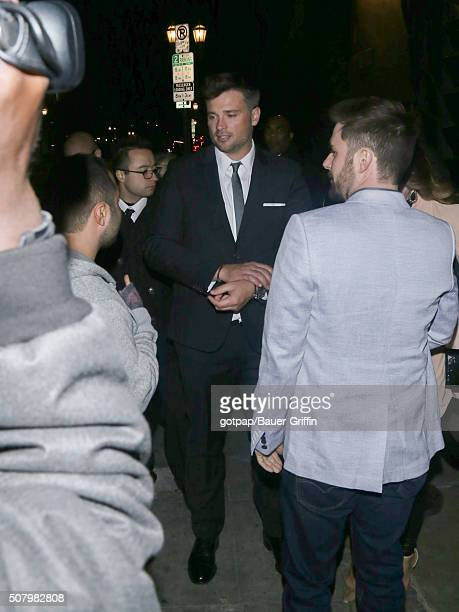 Tom Welling is seen on February 01 2016 in Los Angeles California