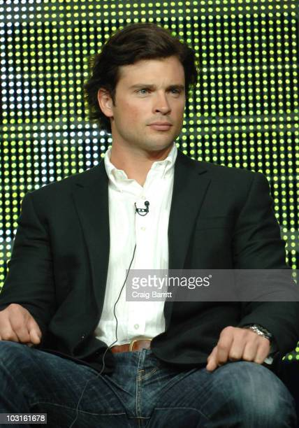 Tom Welling on stage during the 'Hellcats' panel at the 2010 CBS Summer TCA tour at The Beverly Hilton hotel on July 29 2010 in Beverly Hills...