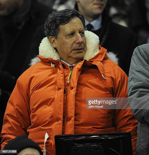 Tom Werner Chairman of Liverpool watches before the Barclays Premier League match between Liverpool and Tottenham Hotspur at Anfield on February 10...
