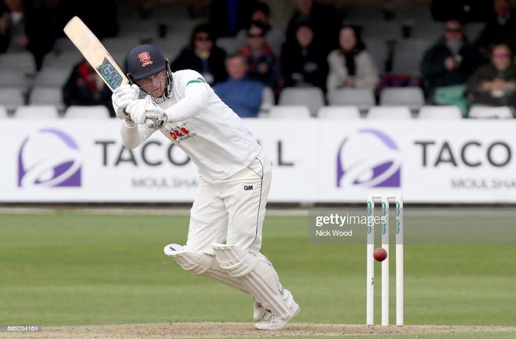 Tom Westley bats his way past fifty runs during the Essex v Hampshire - Specsavers County Championship: Division One cricket match at the Cloudfm County Ground on May 19, 2017 in Chelmsford, England.