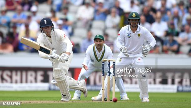 Tom Westley of England bats during day one of the 4th Investec Test between England and South Africa at Old Trafford on August 4 2017 in Manchester...