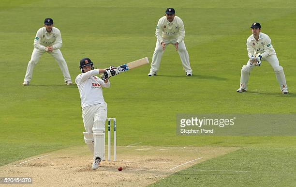 Tom Westley of Essex in action batting during day two of the Specsavers County Championship match between Essex and Gloucestershire at the Ford...