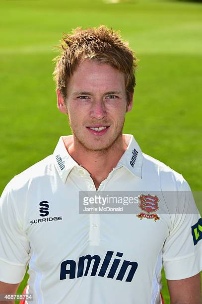 Tom Westley of Essex poses during an Essex CCC Photocall on April 7 2015 in Chelmsford England