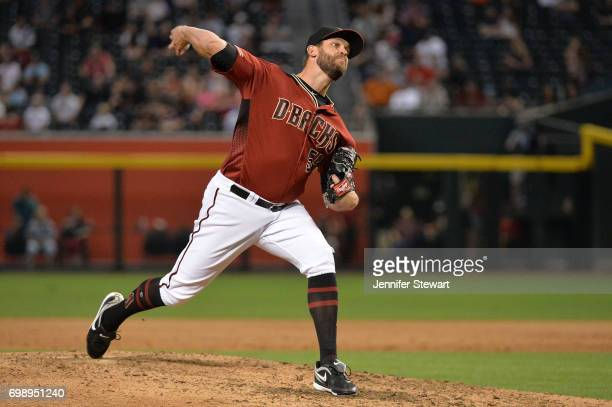 Tom Wilhelmsen of the Arizona Diamondbacks delivers a pitch in the sixth inning of the MLB game against the Chicago White Sox at Chase Field on May...