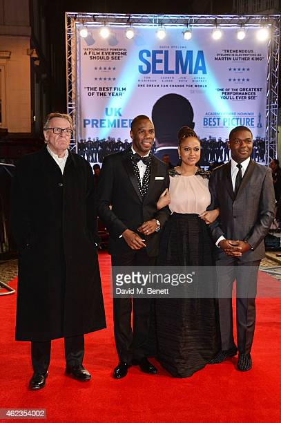 Tom Wilkinson Colman Domingo director Ava DuVernay and David Oyelowo attend¤ the European Premiere of 'Selma' at The Curzon Mayfair on January 27...