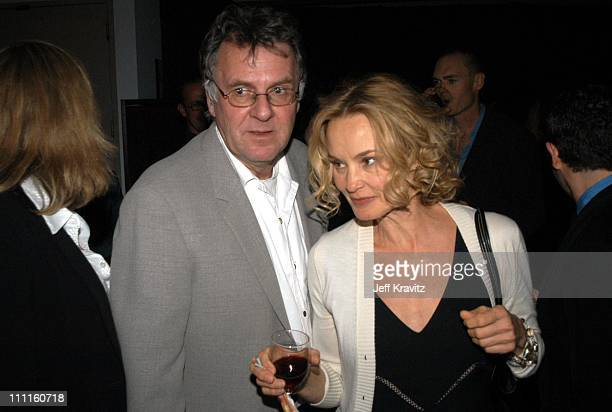 Tom Wilkinson Jessica Lange during HBO Premiere of Normal Arrivals Party at Geffen Playhouse in Los Angeles CA United States