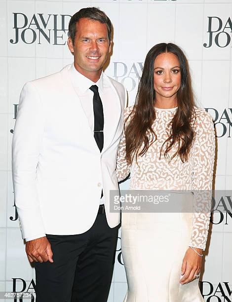 Tom Williams and Rachel Gilbert arrive at the David Jones Autumn/Winter 2015 Collection Launch at David Jones Elizabeth Street Store on February 4...