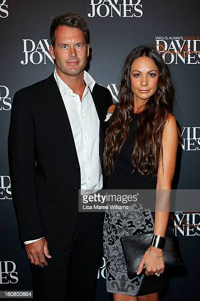 Tom Williams and Rachel Gilbert arrive at the David Jones A/W 2013 Season Launch at David Jones Castlereagh Street on February 6 2013 in Sydney...