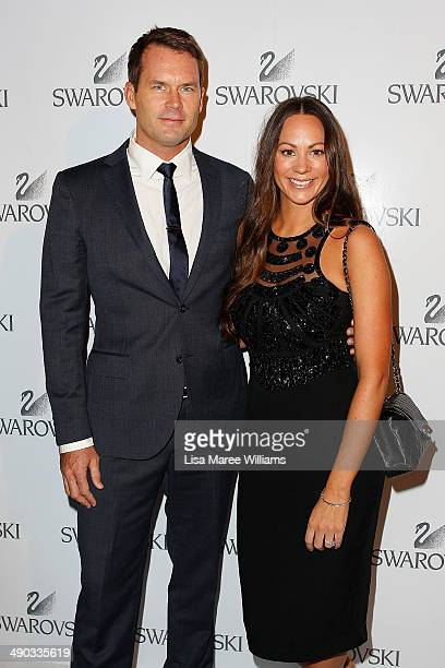 Tom Williams and Rachel Gilbert arrive for a Swarovski Gala Dinner at Bennelong Restaurant at the Sydney Opera House on May 14 2014 in Sydney...