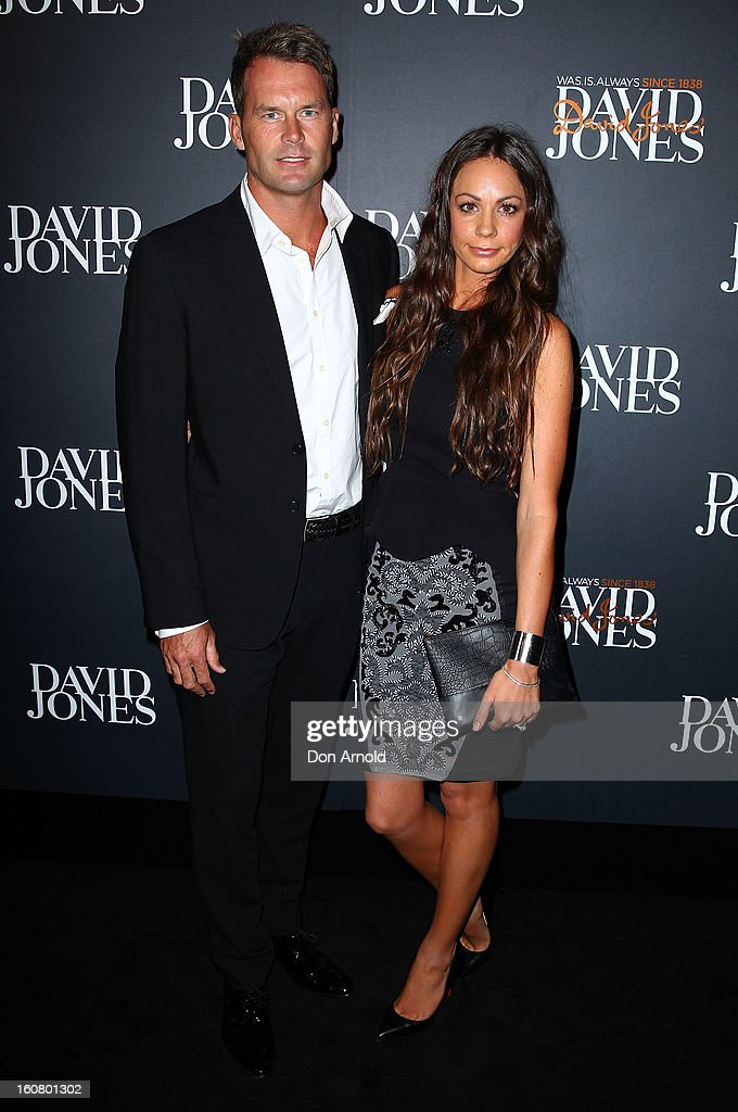 Tom Williams and Rachel Gilbert arrive for the David Jones A/W 2013 Season Launch at David Jones Castlereagh Street on February 6, 2013 in Sydney, Australia.