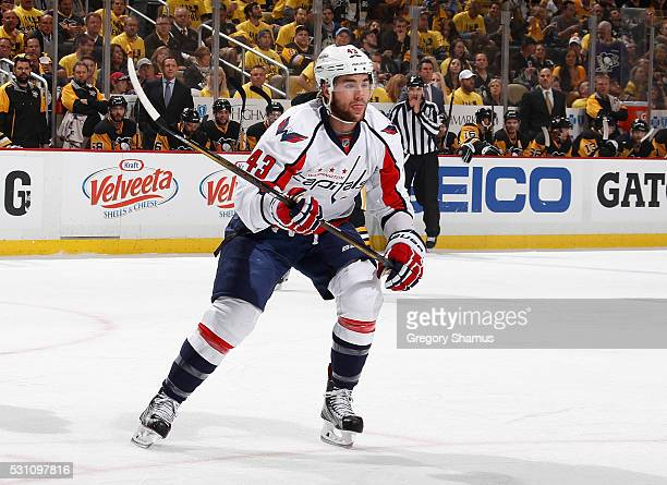 Tom Wilson of the Washington Capitals skates against the Pittsburgh Penguins in Game Six of the Eastern Conference Second Round during the 2016 NHL...