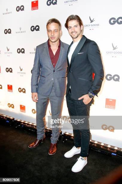Tom Wlaschiha and Florian Molzahn attend the GQ Mension Style Party 2017 at Austernbank on July 5 2017 in Berlin Germany