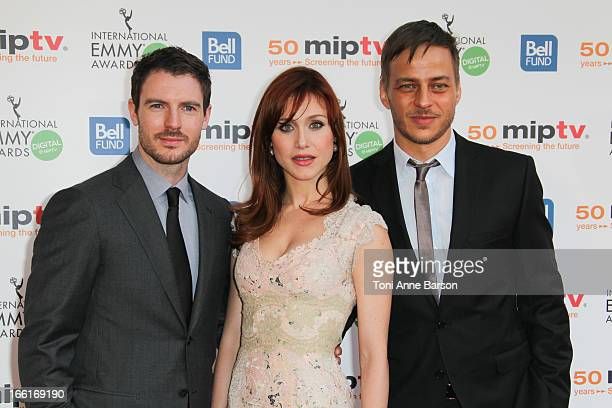 Tom Wlaschiha and Gabriella Pession arrive at the MIPTV 50th Anniversary Opening Party at the Martinez Hotel on April 8 2013 in Cannes France