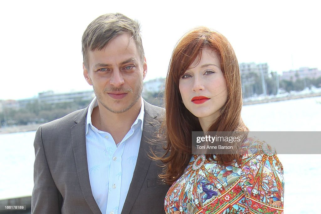 Tom Wlaschiha and <a gi-track='captionPersonalityLinkClicked' href=/galleries/search?phrase=Gabriella+Pession&family=editorial&specificpeople=4383676 ng-click='$event.stopPropagation()'>Gabriella Pession</a> attend 'Crossing Lines' Photocall during MIPTV 2013 on April 9, 2013 in Cannes, France.
