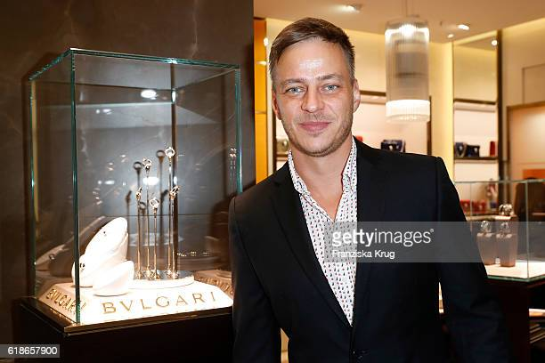 Tom Wlaschiha attends the Bulgari cocktail at KaDeWe on October 27 2016 in Berlin Germany