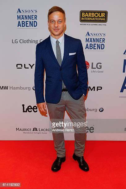 Tom Wlaschiha dressed by ANSONS'S attends ANSON'S Maennerabend on October 12 2016 in Hamburg Germany