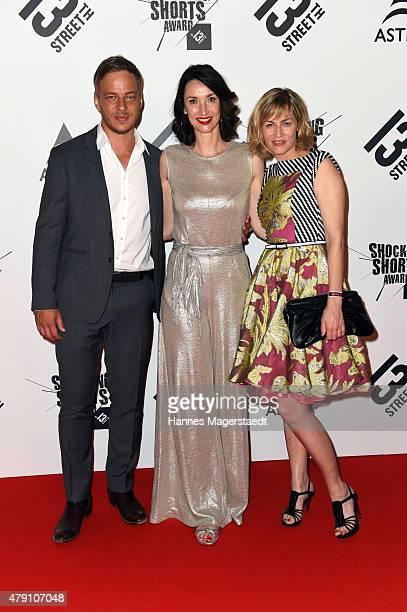 Tom Wlaschiha Katharina Behrends and Gesine Cukrowski attend the Shocking Shorts Award 2015 during the Munich Film Festival on June 30 2015 in Munich...