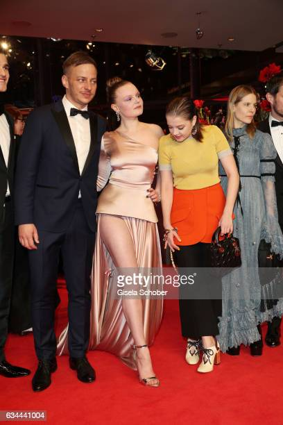 Tom Wlaschiha Maria Dragus Jella Haase Aino Laberenz and Clemens Schick attend the 'Django' premiere during the 67th Berlinale International Film...