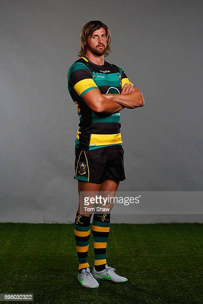 Tom Wood Captain of Northampton Saints poses for a portrait during the Aviva Premiership Rugby 20162017 Season Launch at Twickenham Stadium on August...