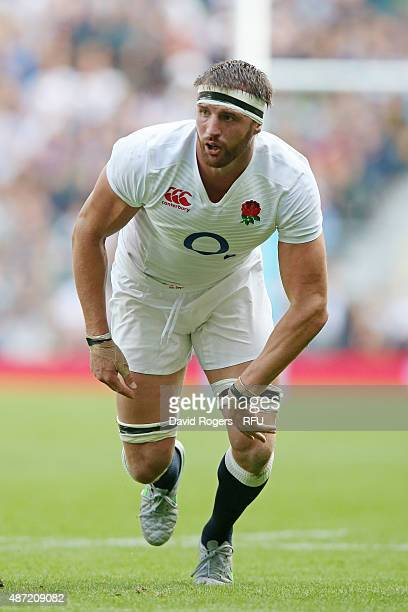Tom Wood of England looks on during the QBE International match between England and Ireland at Twickenham Stadium on September 5 2015 in London...